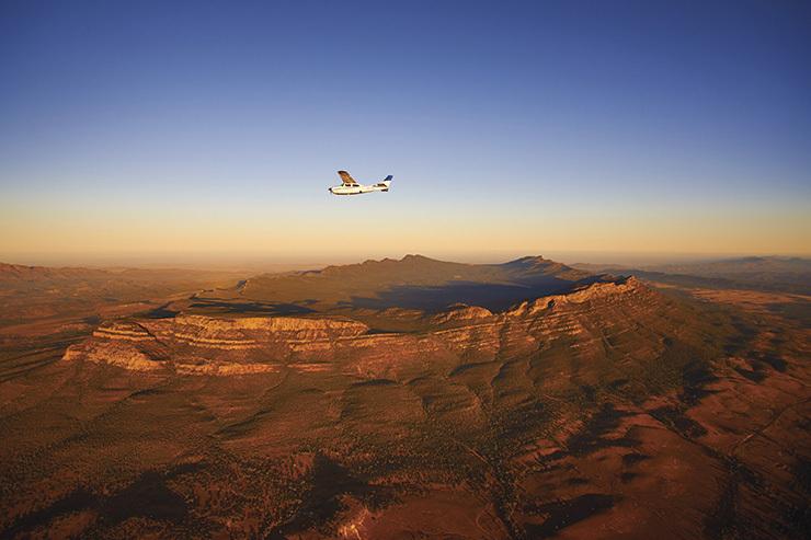 Scenic flight over Wilpena Pound