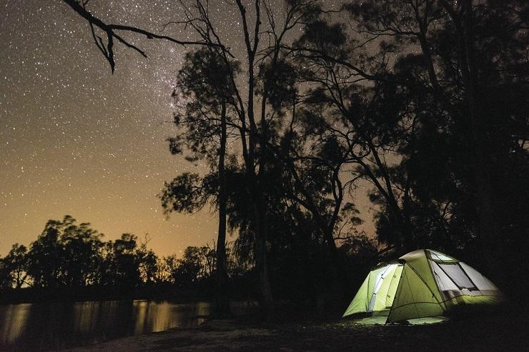Camping at Murray River National Park