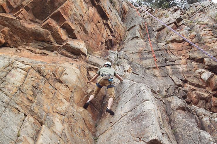 Rockclimbing at Onkaparinga River National Park