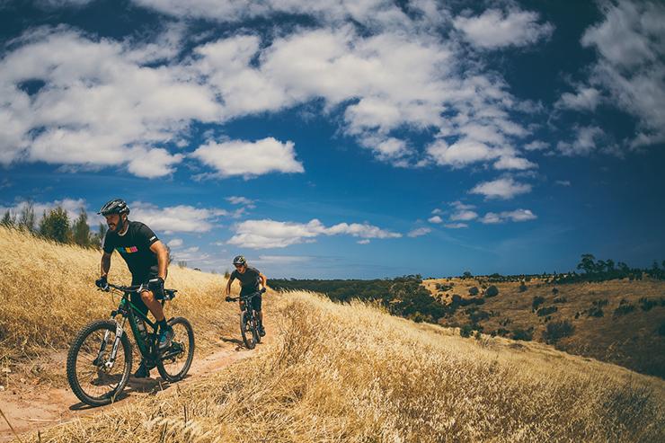 Mountain biking at Sturt Gorge