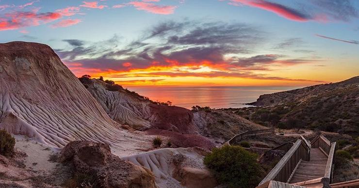 Sunset at Hallet Cove Conservation Park