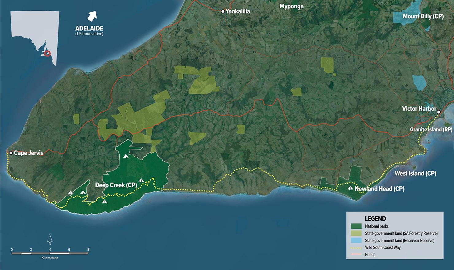 96063 Wild South Coast Way map